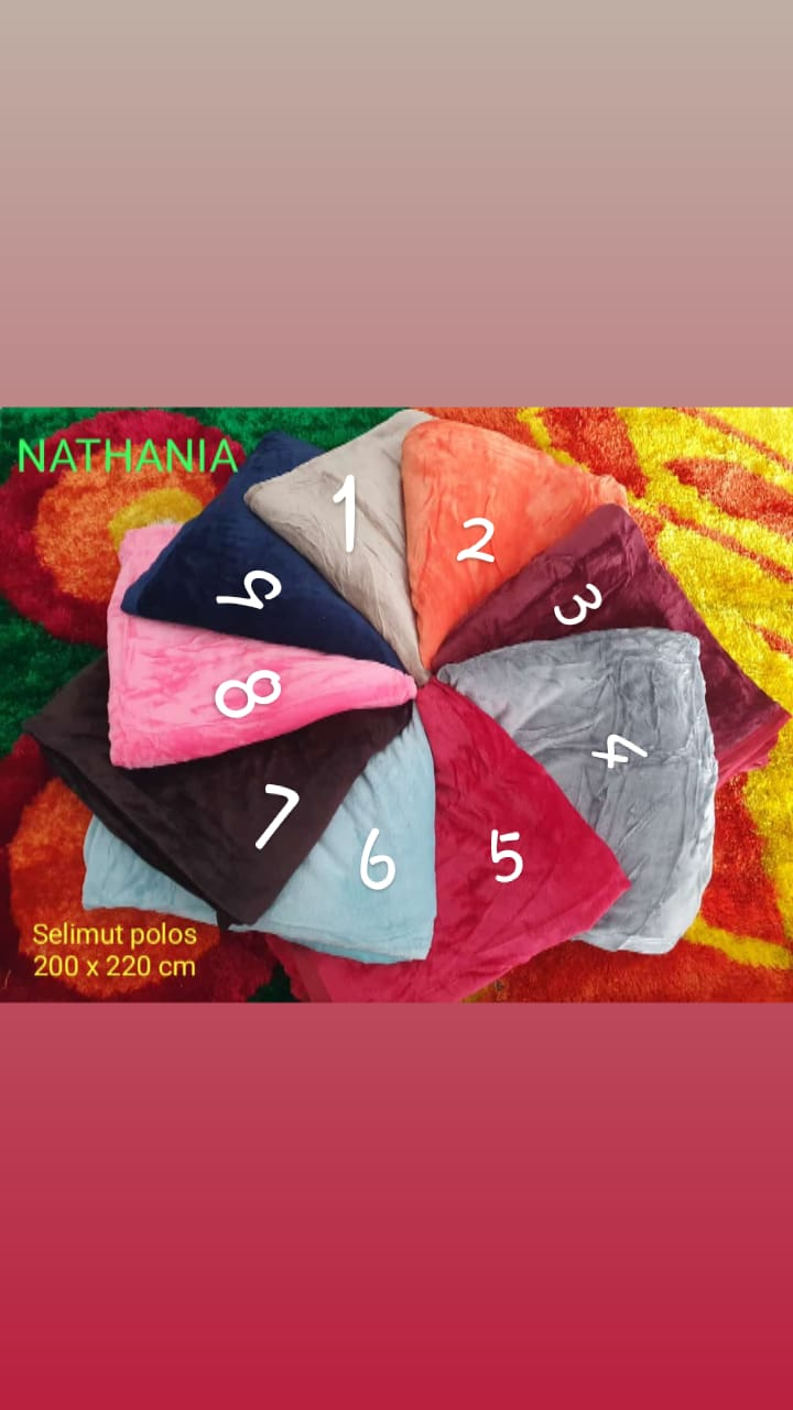Selimut Polos Nathania