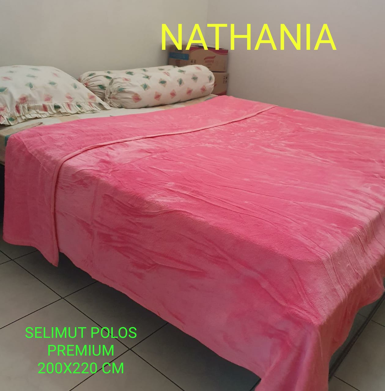 Sprei Merah Nathania